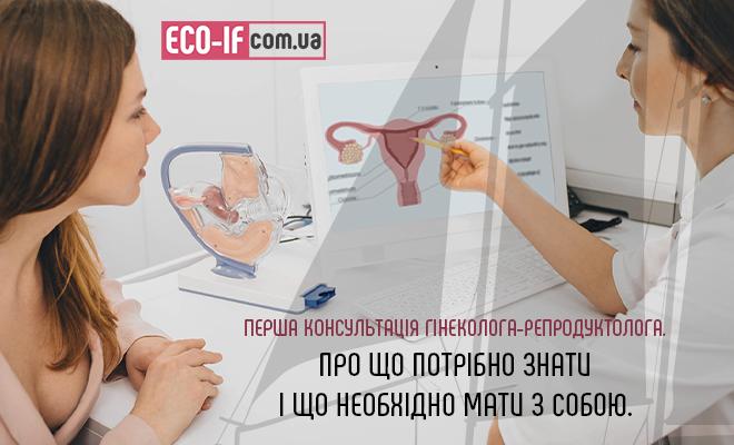 Перша консультація гінеколога-репродуктолога. Про що потрібно знати і що необхідно мати з собою.